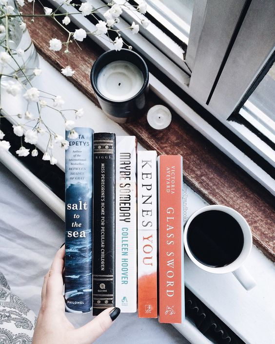 "pollyandbooks: "" February book haul ♡ "":"