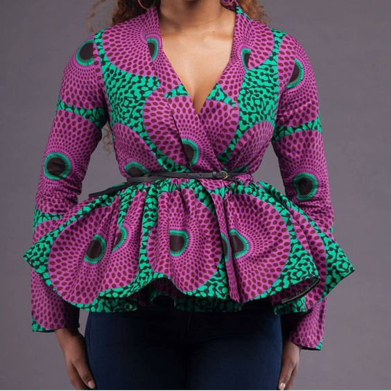 Ankara peplum top by AFROCOLLECTION2015 on Etsy https://www.etsy.com/listing/252684225/ankara-peplum-top: