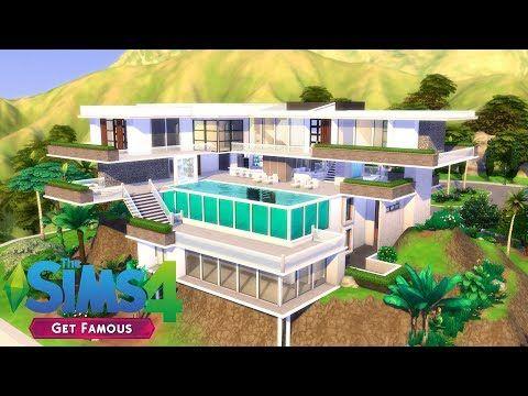 The Sims 4 Mega Celebrity Mansion 1 2 House Build Get Famous Youtube Celebrity Mansions Sims House Mansions
