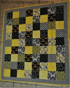 Ptsbrgh Steelers Quilt - use same concept for other teams as gifts for fans