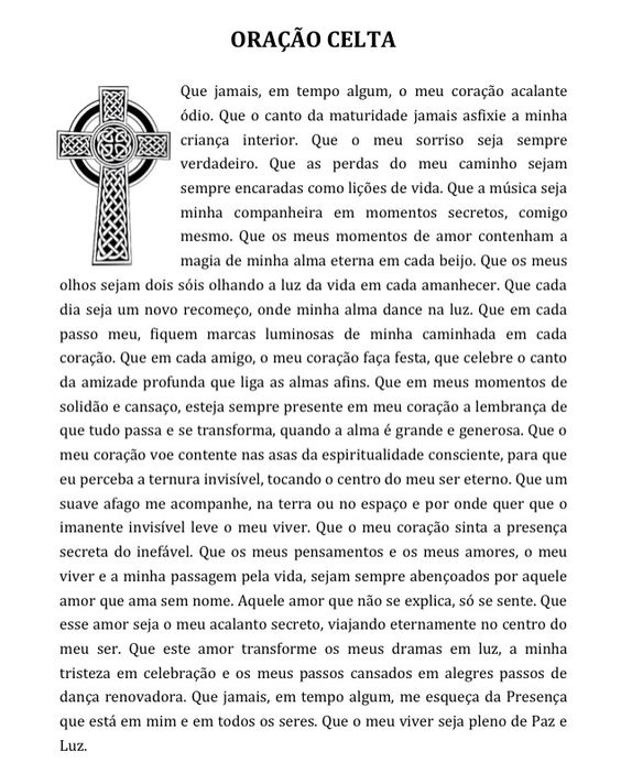 Oração Celta