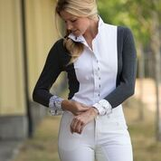 ARISTA SIGNATURE BAMBOO SHOW SHIRT WHITE CHARCOAL MIX
