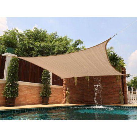 New Premium Clevr Sun Shade Canopy Sail 12'x12' Square UV Top Outdoor Patio Sand - Walmart.com