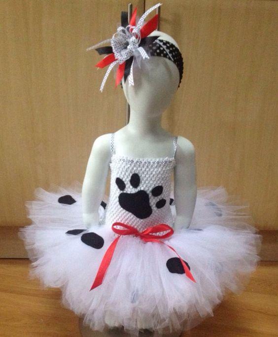 Spotty dog tutu dress