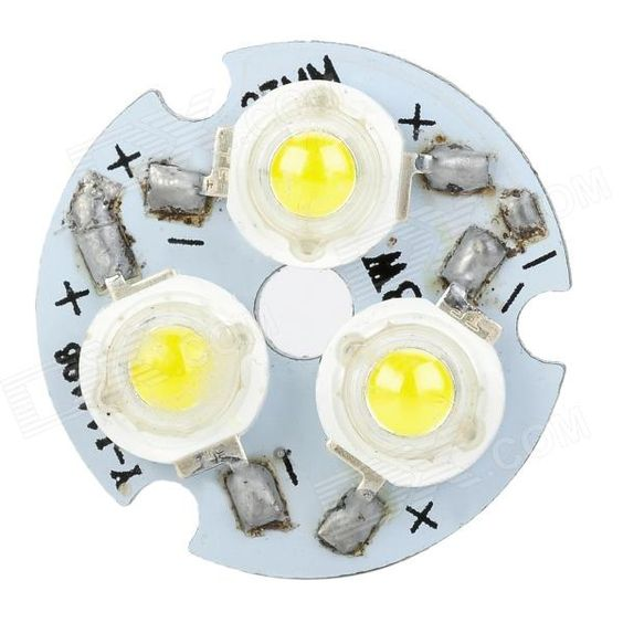 3W 120lm 6500K White Light 3-LED Emitter w/ LED Power Supply Driver - Silver + Green. Material Plastic Color Silver + Green Quantity 1 Emitter Type LED Total Emitters 3 Power 3 W Color BIN White Rate Voltage 100~240 V Luminous Flux 90~120 lm Color Temperature 6000~6500 K Application Great for household lighting Packing List 1 x LED emitter 1 x Power suplly driver. Tags: #Lights #Lighting #Bulbs #and #Strips #LED #Bulb #Parts #Leds