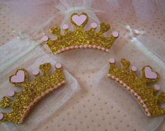 12 CT. princesa rosa y oro corona burbujas por SweetlyIntoxicating