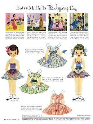 Bonecas de Papel: Betsy McCall - 1956