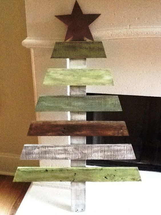 25 Ideas Of How To Make A Wood Pallet Christmas Tree | Arvore ...