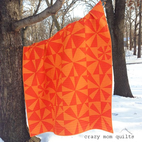 i like orange-a completed quilt: