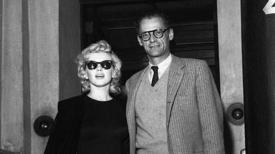 Marilyn Monroe (with Arthur Miller), 1956: So cool with an elegant dress.