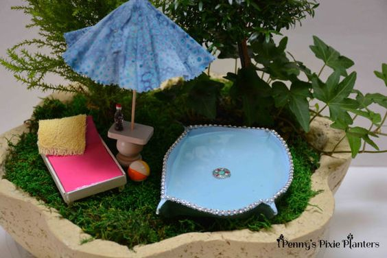 Gardens swimming and fairies on pinterest for Garden mini pool
