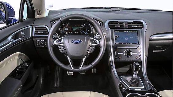 New Blue Ford Mondeo Wagon 2015