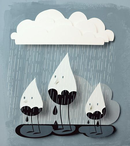 Adorable rain droplets illustration- Looks like this is going to be my April Showers Wall Art!!!!!!!