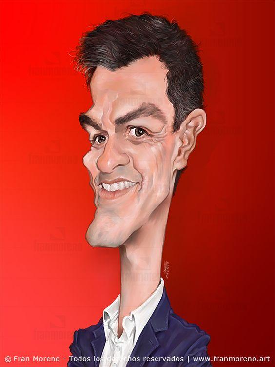 Caricatura Pedro Sánchez - Fran Moreno Arts