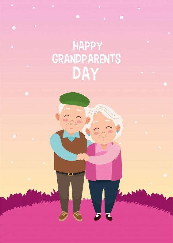 Happy Grandparents Day Card With Old Couple In Camp In 2020 Happy Grandparents Day Grandparents Day Cards Grandparents Day