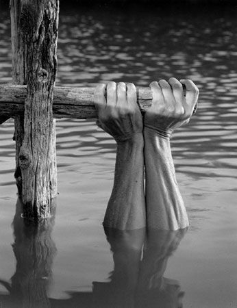Arno Rafael  Minkkinen, 1998. Water and Sky series...(makes me think, I CLING TO THE CROSS WHEN I FEEL I'M GOING UNDER)...