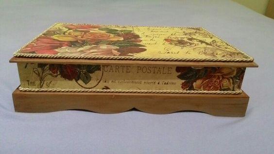 Caixa em MDF decorada com decoupage
