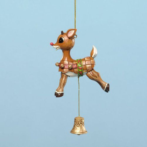 Jim Shore for Enesco Rudolph Traditions Vintage Pull String Ornament