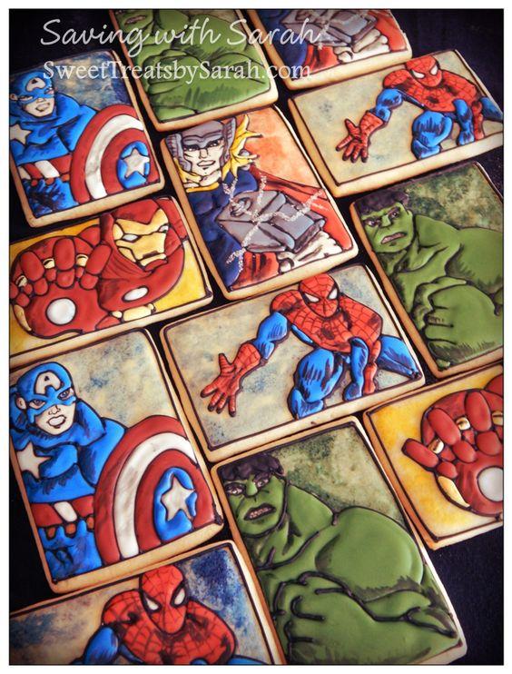 Superhero Cookies   By Sweet Treats by Sarah    http://SweetTreatsbySarah.com