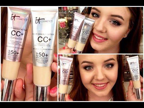 It Cosmetics Cc Cream Original Illumination Comparison Review Youtube It Cosmetics Cc Cream Cc Cream Makeup Skin Care