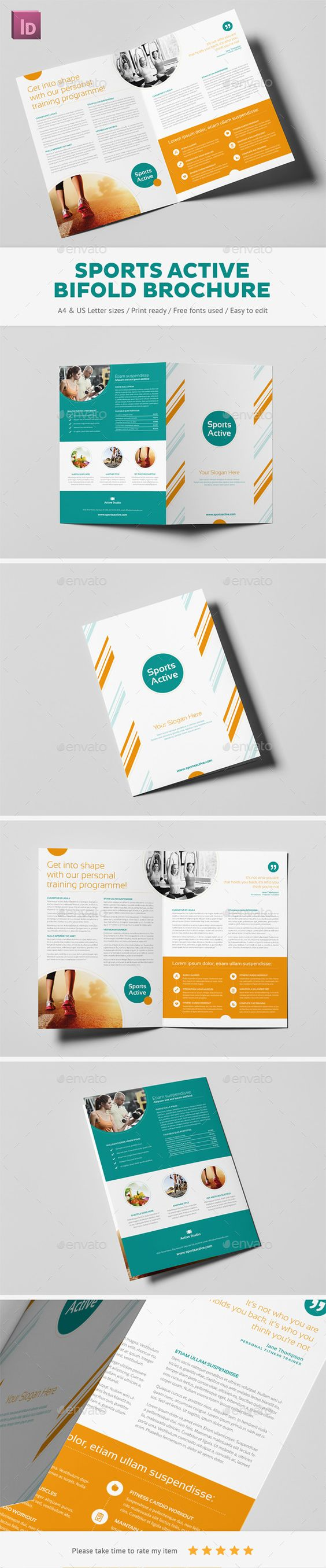Sports Active Bifold Brochure Sports Brochures And Design - Fun brochure templates