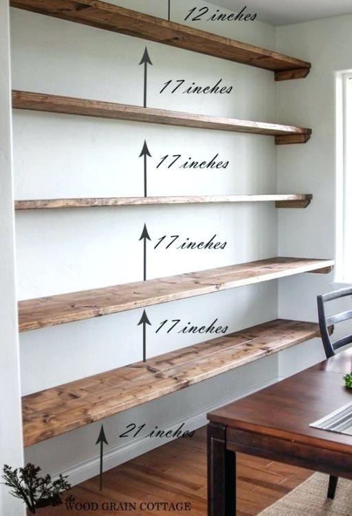 Long Wall Shelves For Books Shelves Easy Floating Shelves For