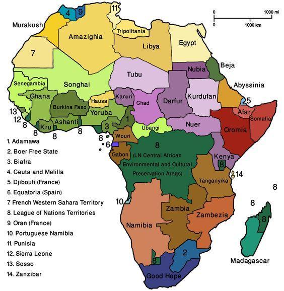 Map Of Africa Map Africa Vegworld Png Geographie Afrique Carte