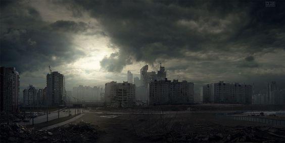 abandoned city  http://apocalypticfiction.com/blog