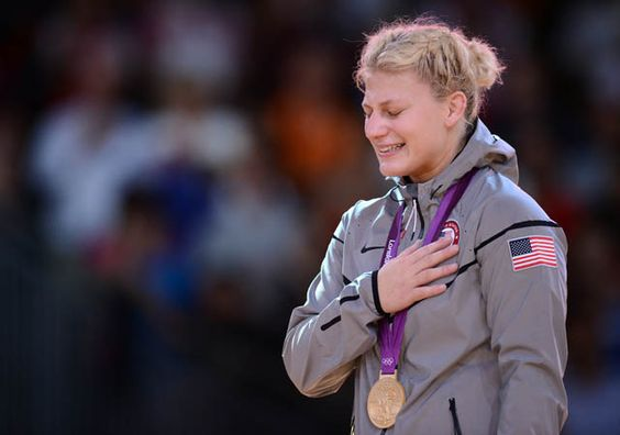 Kayla Harrison, the first U.S. gold medal winner in judo. She was a victim of child molestation and overcame! What an inspiration!!!