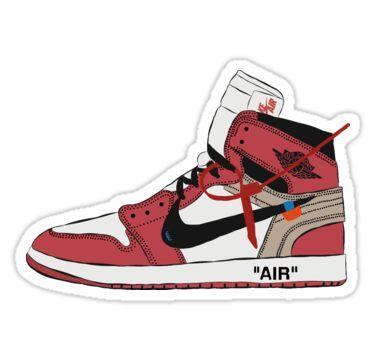 Off White Jordan 1 Red Sticker | White jordans, Sneaker art