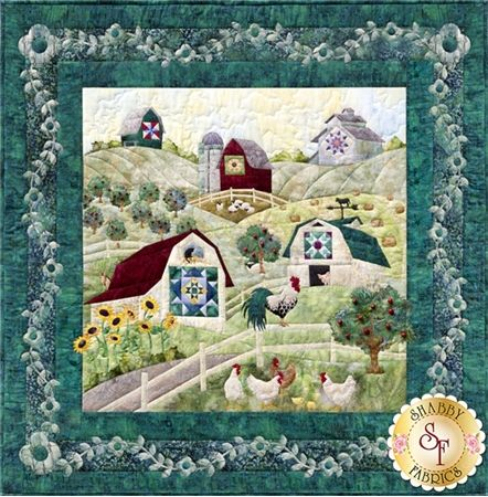 And on That Farm - With a Big Quilt Here and a Small Quilt There Pattern: And on That Farm - With a Big Quilt Here and a Small Quilt There is the block 1 applique pattern of the And on That Farm quilt by McKenna Ryan. This quilt block features a quaint farm town with quilts on the barns! Finished quilt block measures 47 1/2