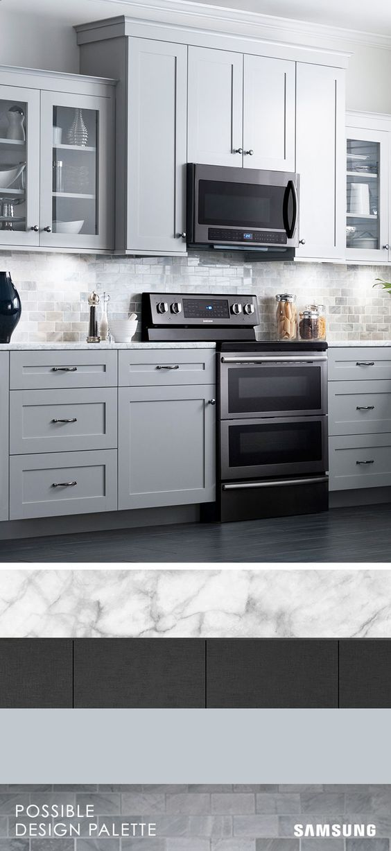 Gray Kitchen Cabinets With Black Appliances what does your dream home look like? marble countertops, neutral
