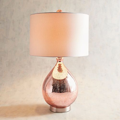 Teardrop Luxe Blush Table Lamp in 2019 | Mercury glass lamp ...