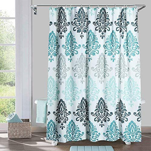Yougai Shower Curtain For Bathroom With 12 Hooks Polyester Fabric
