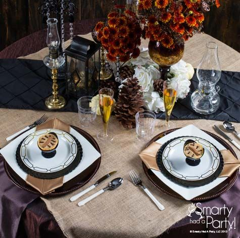 Elegant rustic glam table setting by #Smartyhadaparty.