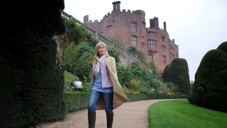 Sian Lloyd takes a winning walk at Powis Castle