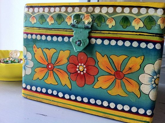 Inspiring Painted Wooden Boxes With Images Of Painted Wooden Creative On  Design
