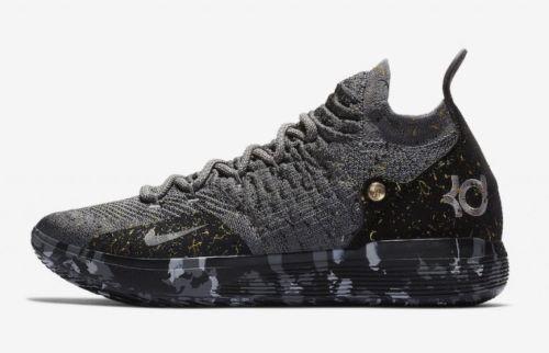 Nike Zoom KD XI 11 Black Grey Metallic Gold Gray AO2604 901