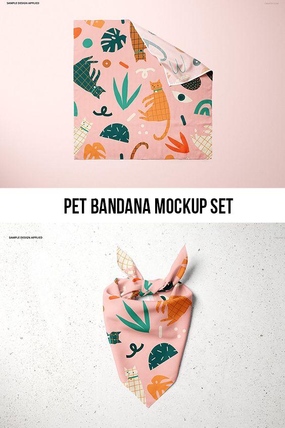 Pet Bandana Mockup Set Type 2 Accesorios