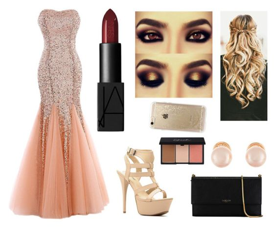 """""""look 188"""" by carolinamondim ❤ liked on Polyvore featuring Lanvin, Kenneth Jay Lane, NARS Cosmetics and Rifle Paper Co"""