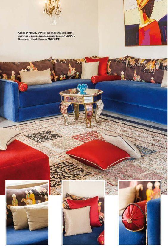 salon marocain  Salon marocain  Pinterest  Tables, Salons and Salon marocain -> Table Salon Marocain