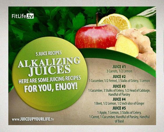 Alkalizing juices