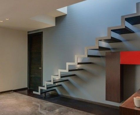 Interior : Delightful Overhang House Staircase Design Ideas With A Ladder  Attached Walled Design Picture   A Part Of Amazing Staircase Design Ideasu2026
