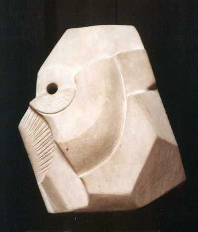 Eclari stone Indoor Inside Interior Abstract Contemporary Modern Sculpture / statue / statuette / figurine sculpture by artist Badri Goguadze titled: 'Decorative Form (abstract Architectural statueor sculptures)'