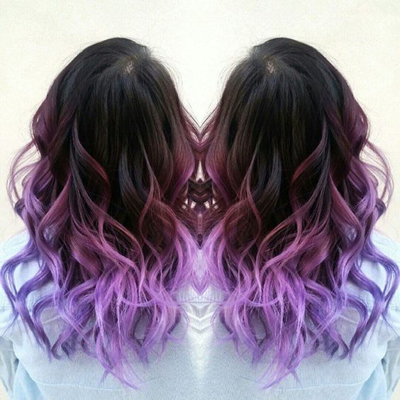 Purple ombre, Ombre hair color and Ombre hair on Pinterest