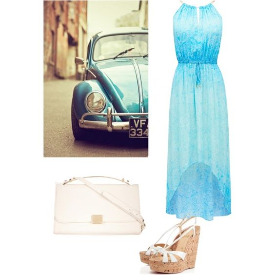 Summer by margotmaxon on Polyvore featuring polyvore, fashion, style, Forever New and Christian Louboutin