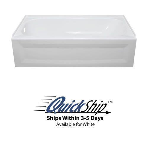 Lyons Elite 54 X 30 X 19 Left Hand Drain Above Floor Rough Bathtub Bathtub Bathtub Shower Soaking Bathtubs