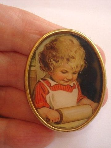 Child+Baking+Vintage++Jewelry+Brooch+by+sanibelsands+on+Etsy