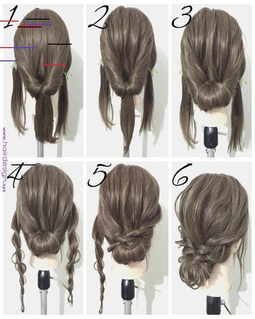 17 Best Hair Updo Ideas For Medium Length Hair In 2020 Hair Styles Medium Length Hair Styles Medium Hair Styles
