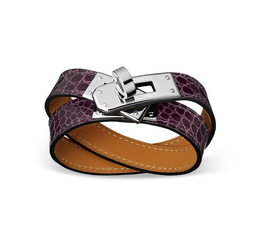 inexpensive clutch purses - Kelly Double Tour Hermes leather bracelet Amethyst alligator skin ...